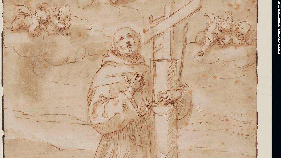 "The thief, or thieves, also stole a pen-and-ink sketch, ""San Diego de Alcala in ecstasy,"" by Renaissance artist Guglielmo Caccia, who was known as il Moncalvo."