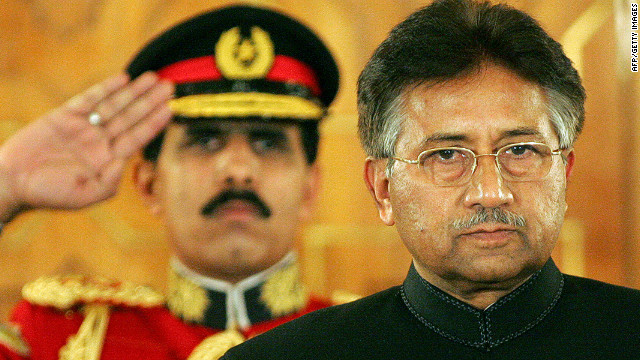 Former Pakistani President Pervez Musharraf takes the oath as a civilian president in Islamabad in November 2007.