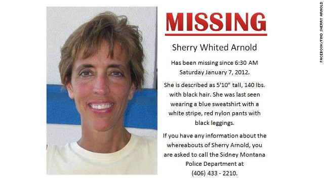 Montana schoolteacher Sherry Arnold was wearing running clothes and carrying an iPod when she disappeared.