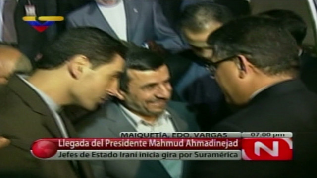 Ahmadinejad arrives in Venezuela