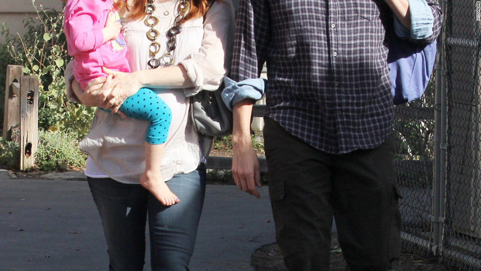 Alyson Hannigan goes to the park with her family in Brentwood.
