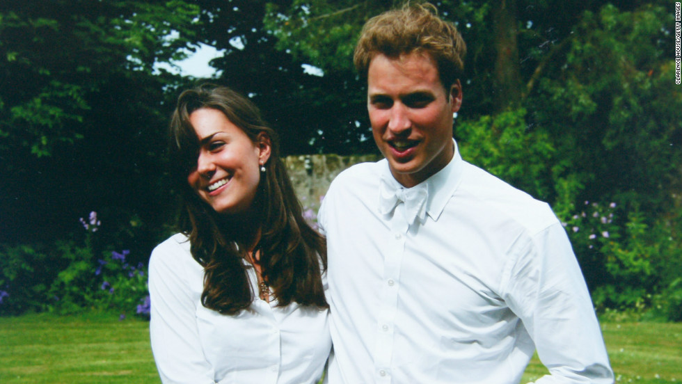 She met fellow student Prince William while taking part in a university fashion show. The couple are seen here on their graduation day in June 2005.