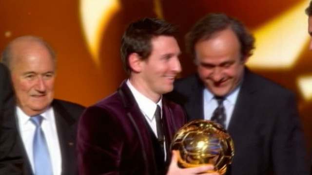 Messi wins third straight Ballon D'or