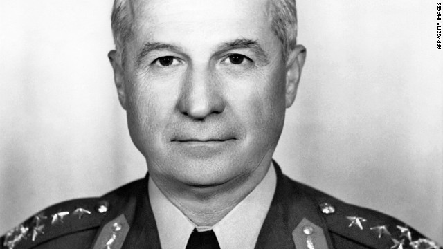 A photo taken in 1977 shows Turkey's now retired army general and former president Kenan Evren.