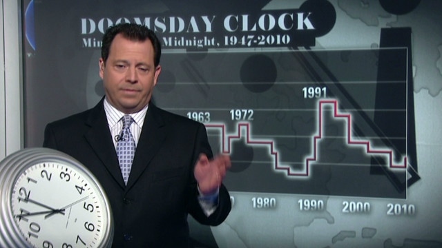 Symbolic 'Doomsday Clock' ticks forward