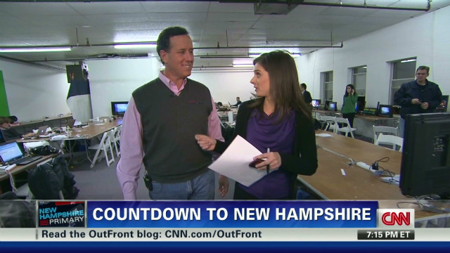 Santorum on New Hampshire, sweater vests