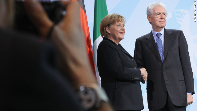 Germany, Italian heads meet amid crisis