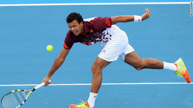 Fatigue and a troublesome wind both contributed to Jo-Wilfried Tsonga's defeat  at the Kooyong Classic.