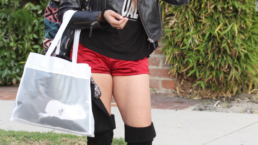 Raven-Symone roams around Beverly Hills.