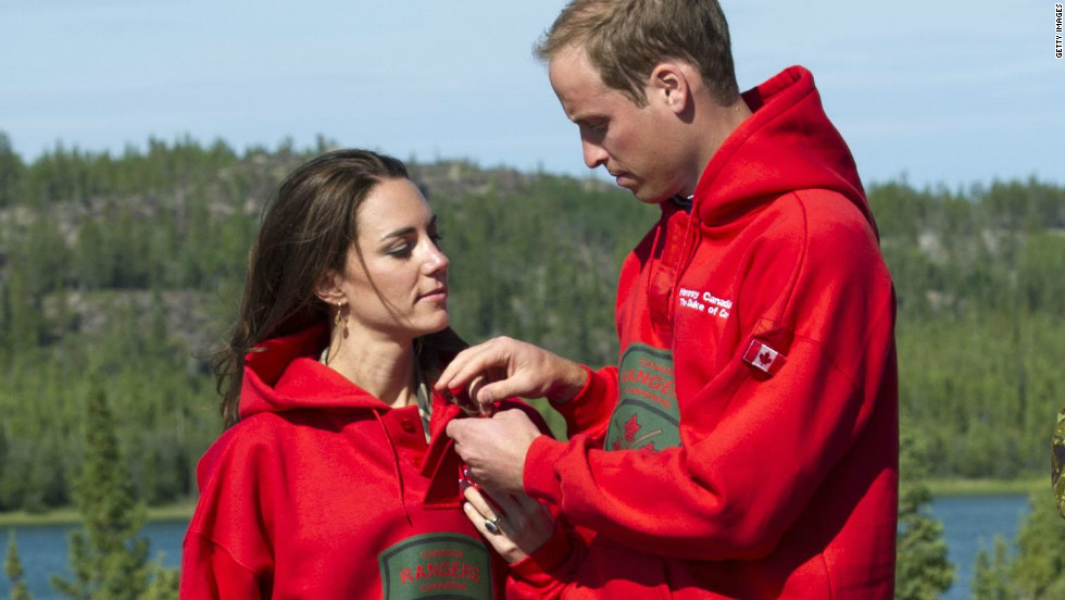 On the same trip, in July 2011, the pair were made honorary Canadian Rangers -- complete with matching hooded sweatshirts.
