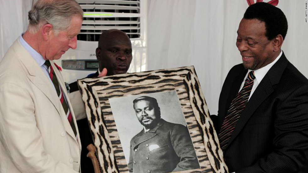 Framed pictures are another top choice -- Prince Charles was given this framed picture by Zulu King Goodwill Zwelithini during a visit to Tanzania in November 2011.