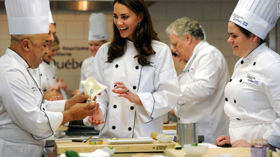 Souvenirs of activities from their travels are also popular gifts -- William and Kate were allowed to keep the chef's jackets they wore during a demonstration at a tourism and cookery institute in Montreal, Canada.
