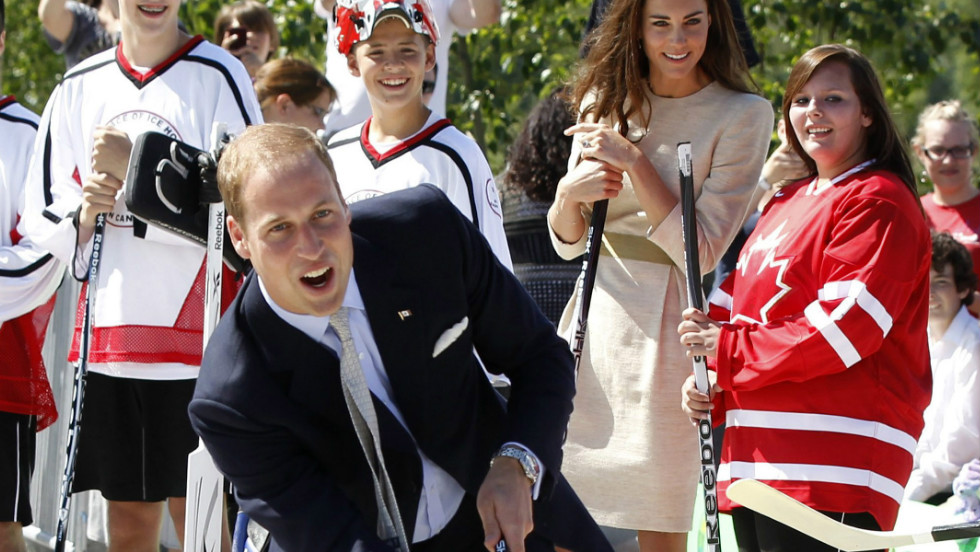 And on the Canadian tour, both he and Kate were given personalized hockey sweaters, after William showed off his skills at the sport. Other gifts from the couple's Canada trip included a quilt, soft toys, several pairs of shoes and a flying helmet.