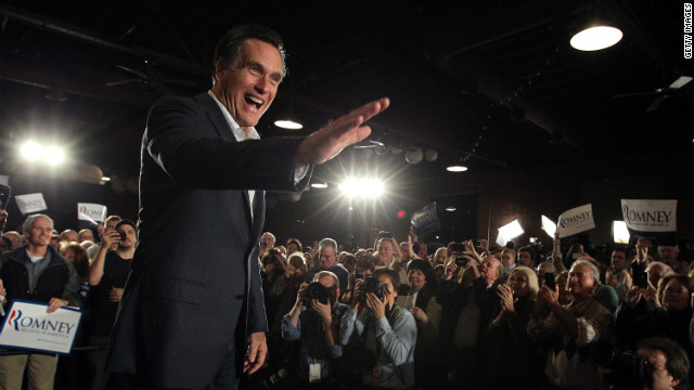 Mitt Romney greets supporters at a campaign rally in Columbia, South Carolina, on Wednesday.