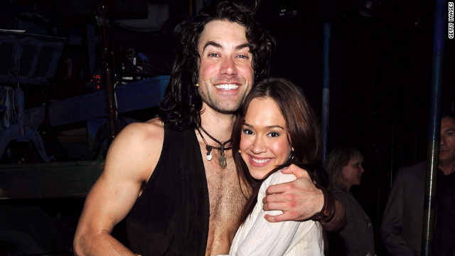 Ace Young and Diana DeGarmo, shown here attending 'Hair' on Broadway's 500th performance celebration in 2010.