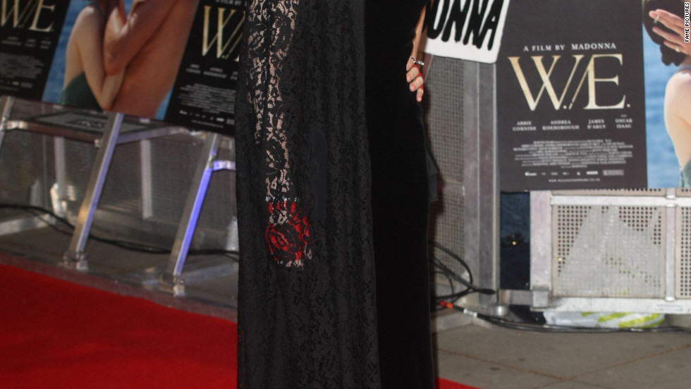 Madonna attends a premiere in London.