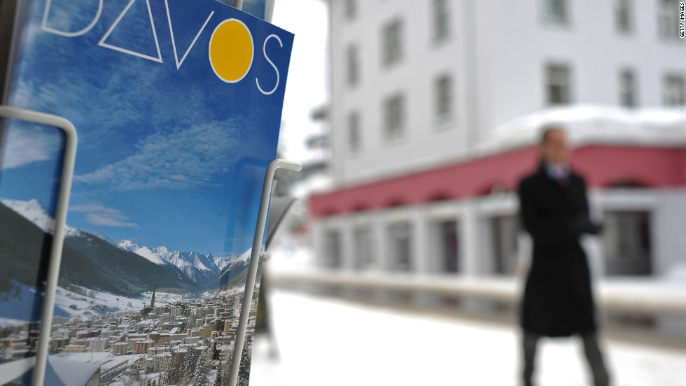 Around 2600 of the world's top political and business leaders will converge on the Swiss resort of Davos, Europe's highest town.