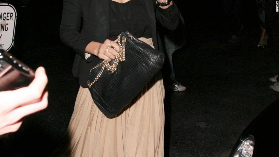 Lauren Conrad leaves a restaurant in Hollywood.