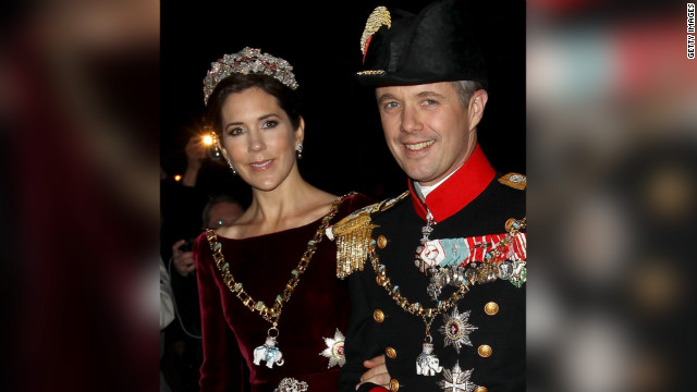 Princess Mary and Crown Prince Frederik of Denmark in Copenhagen, Denmark on January 1, 2012.