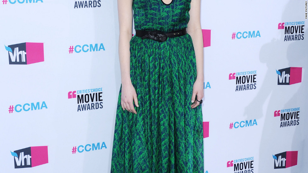 Emma Stone attends the Critics' Choice Movie Awards in Los Angeles.