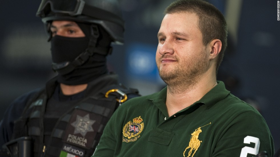 American-born Edgar Valdez Villareal, or 'La Barbie,' of the Beltran Leyva drug cartel, was arrested in August 2010 in Mexico, and smiled as he was paraded in front of the press.
