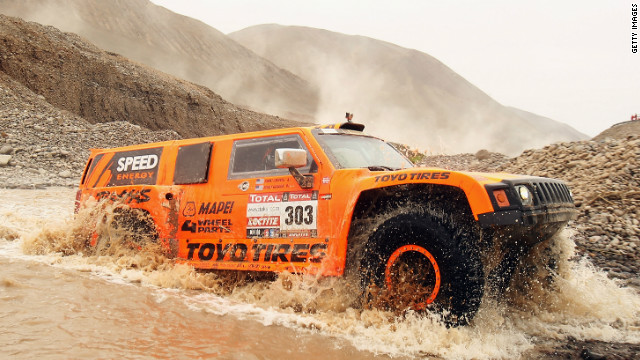 Robbie Gordon has made a big impression in his Hummer during this year's Dakar Rally.