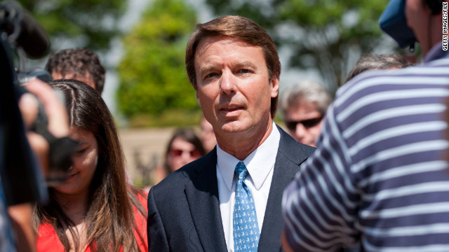 WINSTON SALEM, NC - JUNE 3: John Edwards exits the Federal Courthouse and speaks to a crowd of reporters on June 3, 2011 in Winston Salem, North Carolina. A federal grand jury indicted John Edwards, the former senator and presidential candidate, on charges that he used campaign contributions to hide an affair. (Photo by Steve Exum/Getty Images)