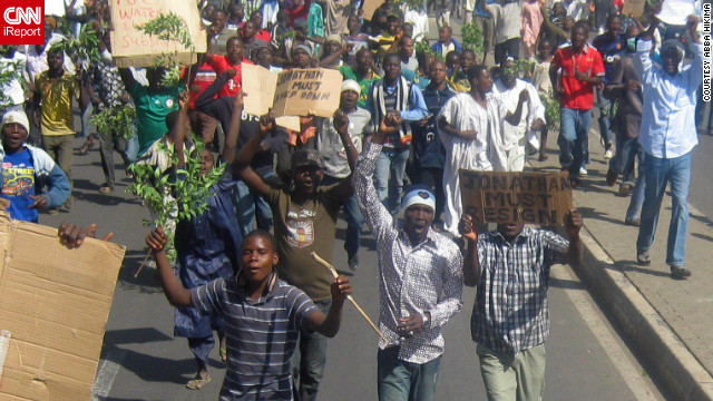 Thousands of youth activists, Labour workers, Universities Staff union protesting against Fuel price hike in Nigeria.