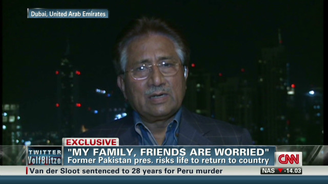 Musharraf: Prepared for risk in Pakistan
