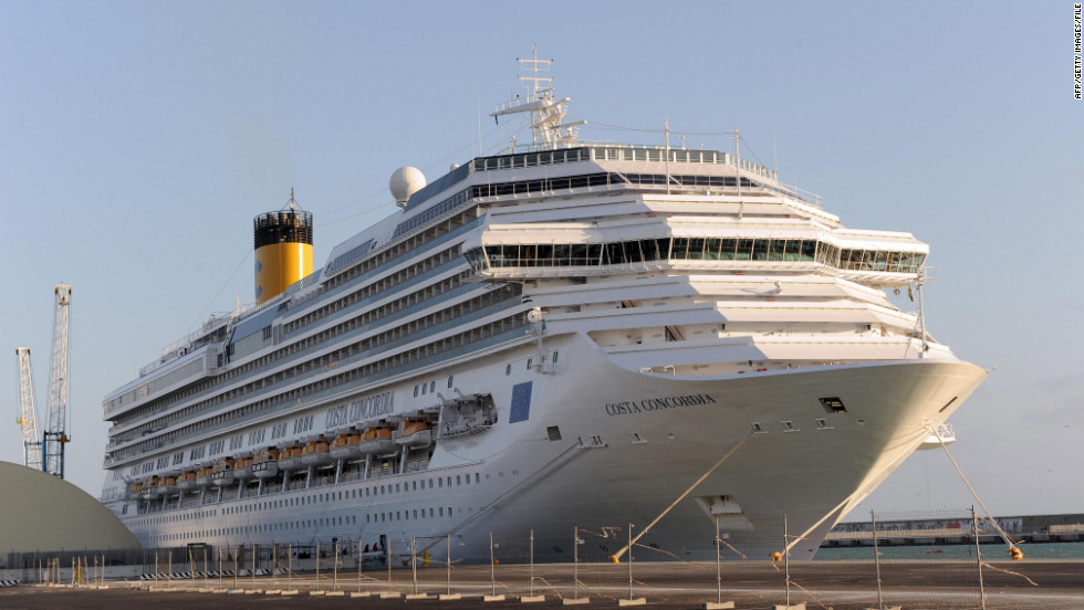The Costa Concordia cruise ship is pictured in March 2009 in Civitavecchia, Rome's tourist port.