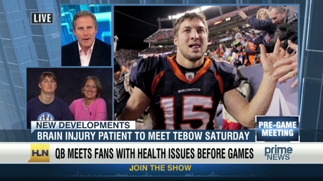 Injured football player to meet Tebow
