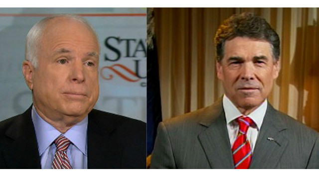 Sen. McCain and Gov. Perry split from SOTU