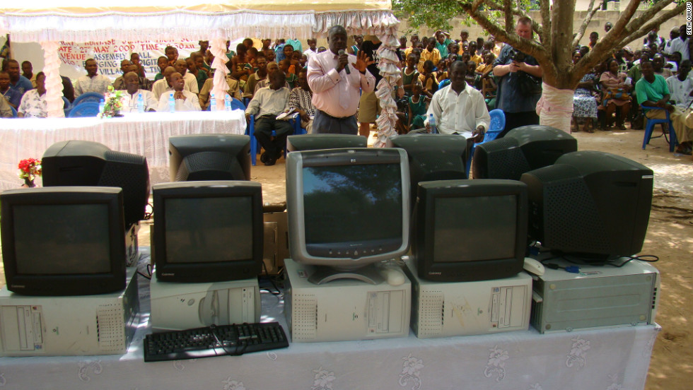 Since 2004, EVCO says it has installed and donated 24 computer labs in village schools and communities in Ghana and Nigeria.