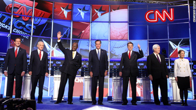 In the beginning, the GOP field included Rick Santorum, Ron Paul, Hermain Cain, Mitt Romney, Rick Perry, Newt Gingrich and Michele Bachmann.