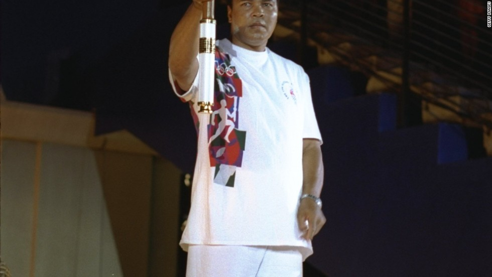 Ali provided one of the iconic images of the 1996 Atlanta Olympics when he lit the Olympic flame to officially declare the Games open.