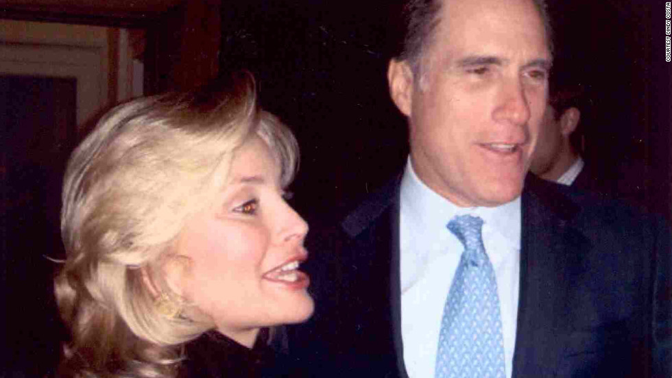 Cindy Costa, a South Carolina Republican activist who says she's motivated largely by her evangelical faith, has endorsed Mitt Romney for president. Here the two attend a 2008 fundraiser. Costa's political career has evolved from a rebel who once backed Pat Robertson for president in 1988 to a GOP establishment insider.