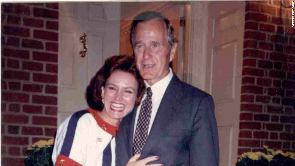 Costa appears with President George H.W. Bush at the fall 1992 reception at Robertson's home.