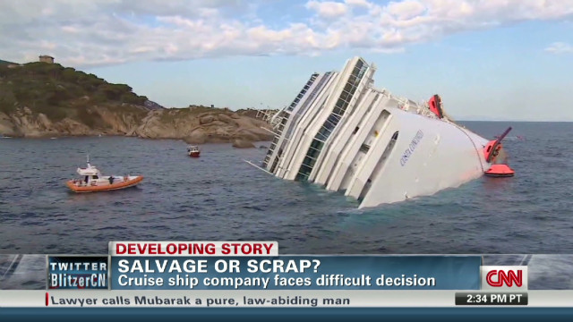 Salvage or scrap the cruise ship?