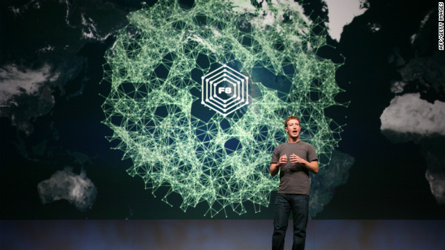 "Facebook CEO Mark Zuckerberg announced ""frictionless sharing"" app features at a conference in September."