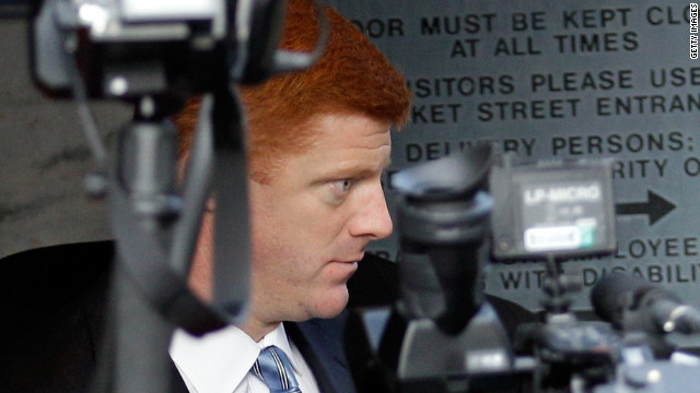 Penn State assistant football coach Mike McQueary says he saw Jerry Sandusky molest a boy in the showers in 2002.