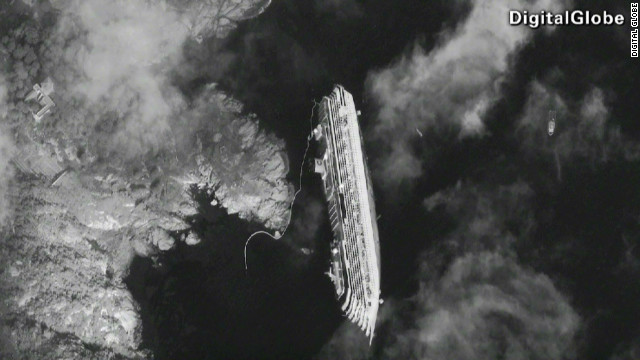 Stunning photo of cruise ship from space