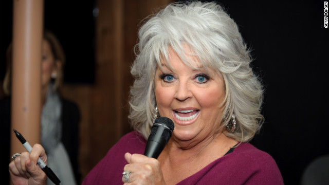 Paula Deen appears at a cookbook promotion at a bookstore in Ridgewood, New Jersey, in October.