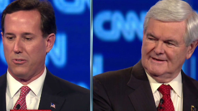 Santorum reacts to Gingrich call to quit