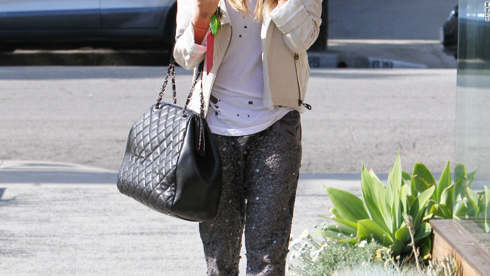 Ashley Tisdale goes to a salon in Los Angeles.