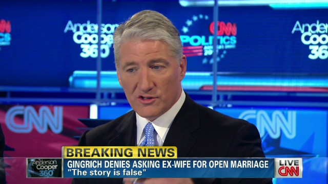 King explains opening Gingrich question