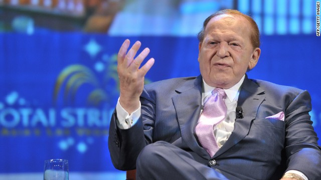 Casino mogul Sheldon Adelson, seen here in 2008, has pumped millions of dollars  into GOP campaigns.