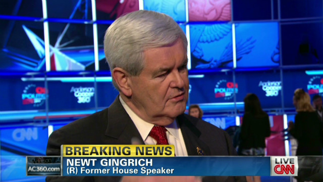 Gingrich: John King 'did a great job'