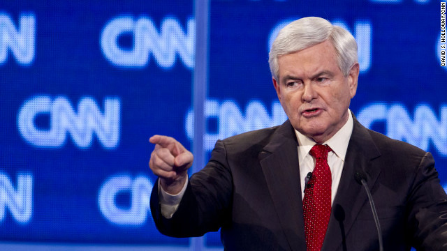 Newt Gingrich participated in the CNN South Carolina Republican Debate in Charleston on Thursday, January 19, 2012.