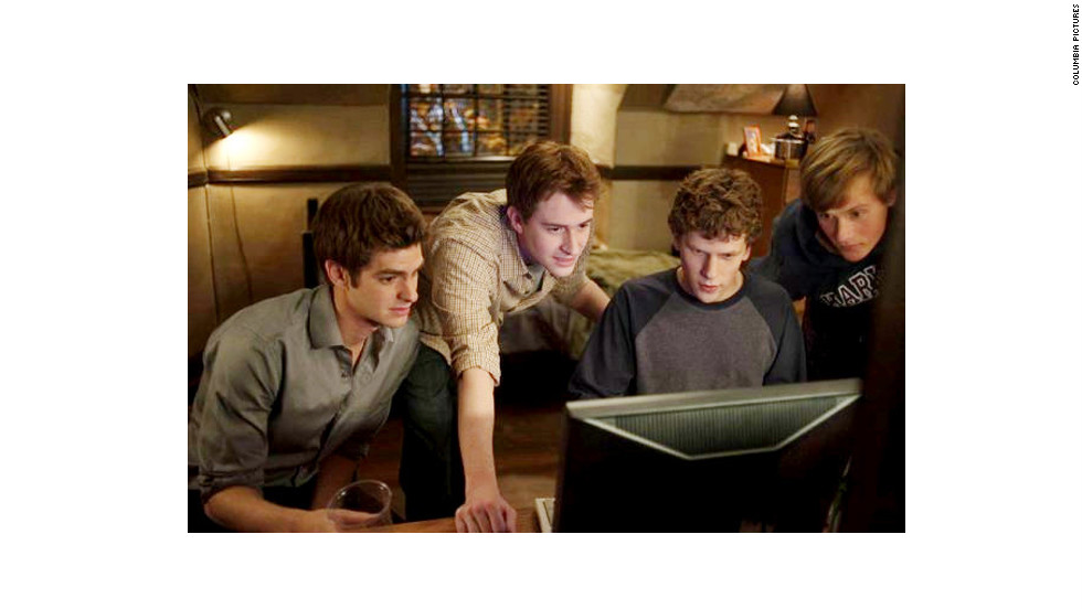 """The Social Network,"" David Fincher's movie about the founding of Facebook, hits theaters, making Mark Zuckerberg a household name. The film is a critical and commercial hit, earning $225 million worldwide and winning three Oscars. Zuckerberg calls the movie a largely inaccurate dramatization but says it gets his casual wardrobe right."