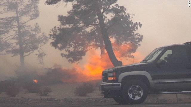The wildfire erupted on Thursday, causing about 10,000 people to evacuate.